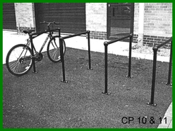CP10 Cycle Parking Rail - Plate Mounting
